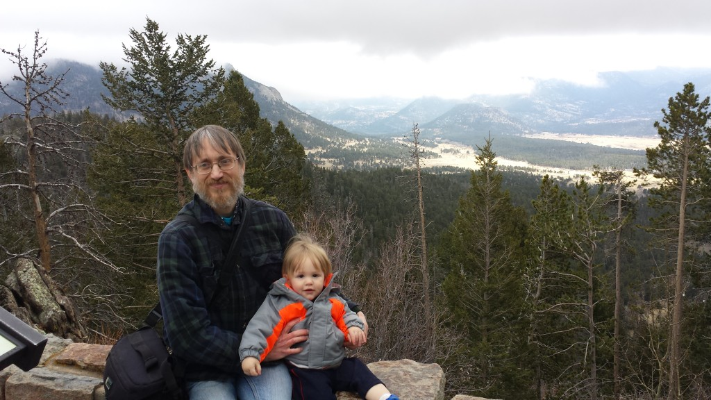 Donald and Rowan at Rocky Mountain National Park