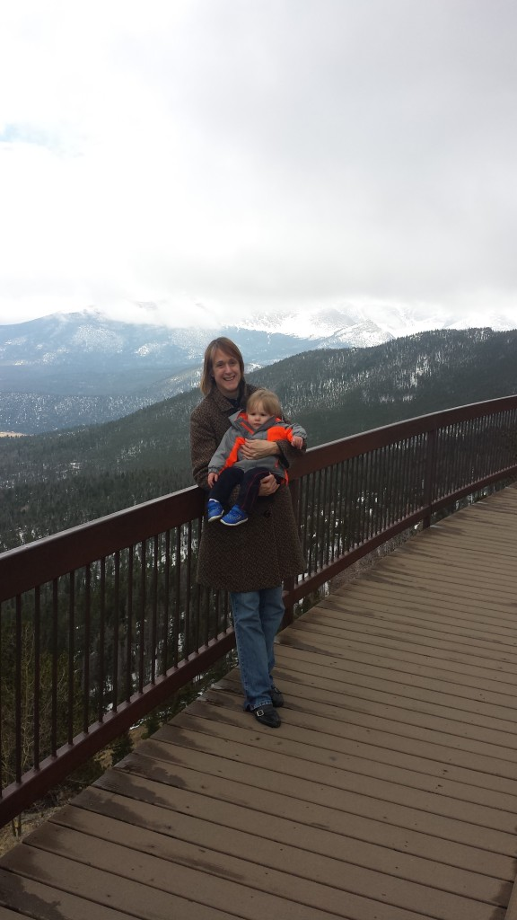Mommy and Rowan in Rocky Mountains National Park
